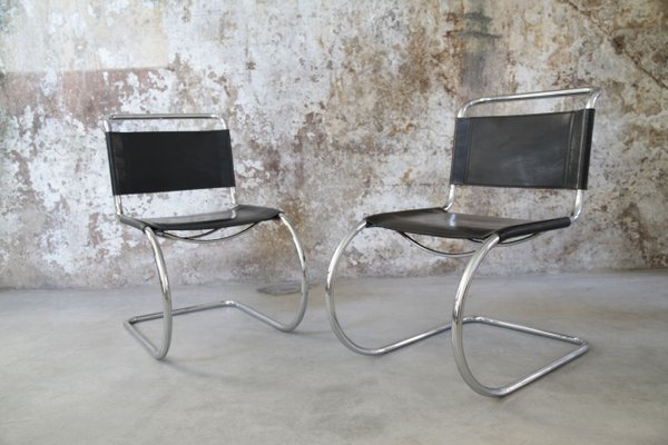 Vintage Mr 10 Stuhl Aus Stahlrohr Von Ludwig Mies Van Der Rohe Bei