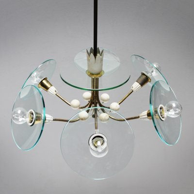Vintage Chandelier by Pietro Chiesa for Fontana Arte for sale at Pamono