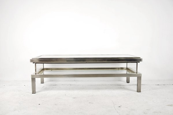 Coffee Table With Glass Case By Maison Jansen, 1970s
