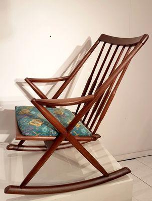 Sedia a dondolo, Scandinavia, anni '60 in vendita su Pamono