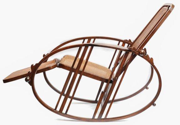 Rocking Chair Vintage Avec Repose Pieds Par Antonio Volpe En Vente
