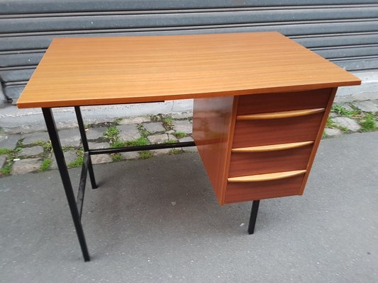 Vintage s mid century small teak formica formwood coffee table