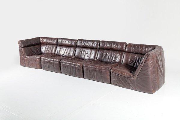 Modulares Vintage Leder Sofa Von Rolf Benz 1970er Bei Pamono Kaufen