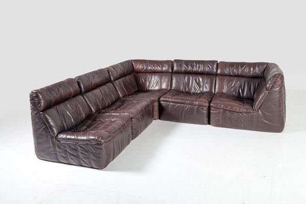 Rolf Benz Bank Vintage.Vintage Modular Leather Sofa From Rolf Benz 1970s