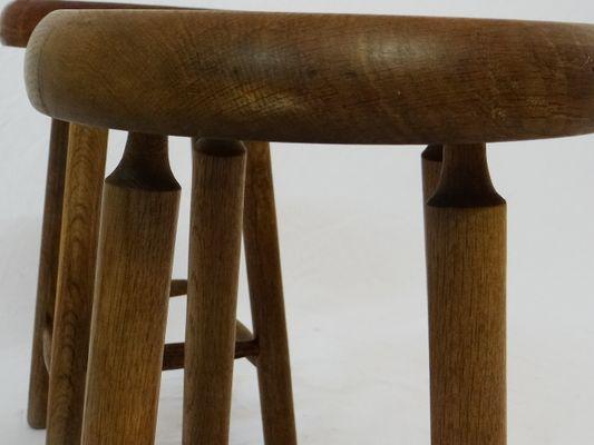 Sgabello pouf in legno noce stoffa lisere a righe verde eur