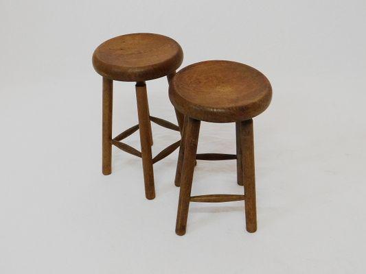 Sgabelli vintage in legno di noce set di in vendita su pamono