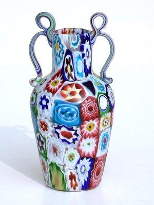Millefiori Glass Vase From Ferro Toso Co 1920s For Sale At Pamono