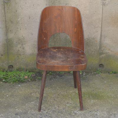 Sedia A Dondolo 515.Sedia Da Pranzo Modello 515 Di Oswald Haerdtl Per Ton 1961 In