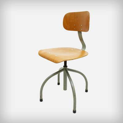 Miraculous German Industrial Swivel Office Chair From Anatomic 1950S Bralicious Painted Fabric Chair Ideas Braliciousco