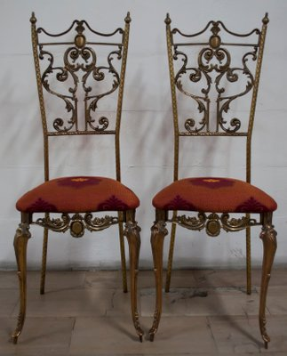 Italian Neoclical Style Chairs 1950s Set Of 2