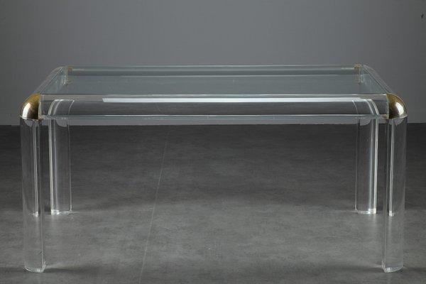 Italienischer Plexiglas Tisch 1970er Bei Pamono Kaufen