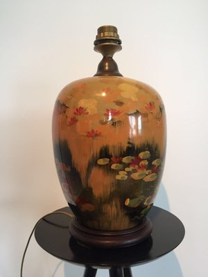 Vintage Chinese Ceramic Table Lamp 1980s 1