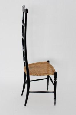 Sedia vintage dallo schienale alto di Chiavari, anni \'40 in vendita ...