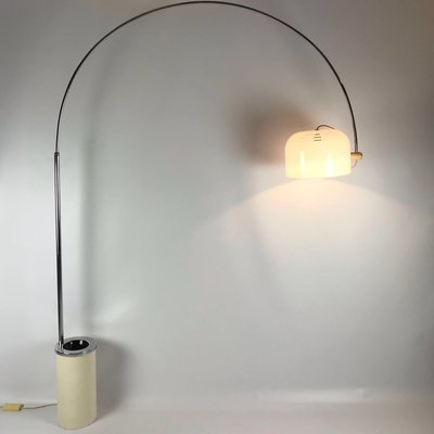 Arc Floor Lamp By Luigi Massoni For, Floor Lamp Concrete Base Repair