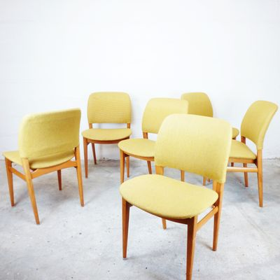 Skandinavische Mid Century Stühle, 6er Set 2