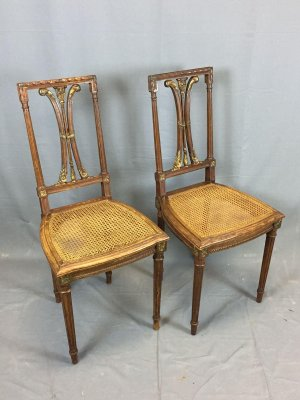 promo code aea91 cd5a5 Vintage Oak Dining Chairs, Set of 2