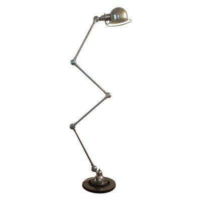 vintage industrial lamp in chrome by jean louis domecq for jieldé