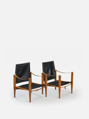 Mid Century Safari Chairs By Kaare Klint For Rud Rasmussen, Set Of 2 9
