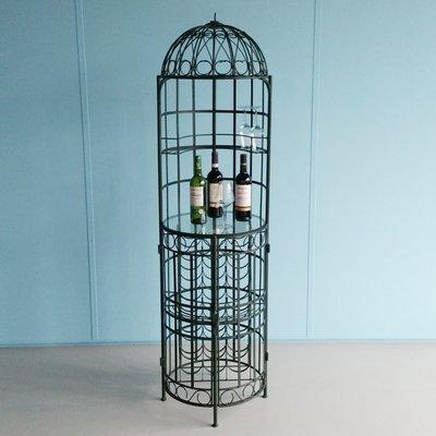 Vintage Wrought Iron Wine Jail Bar