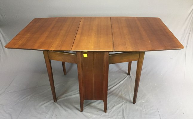 gateleg table in walnut 1970s for sale at pamono