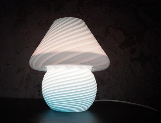 Murano mushroom lamp vetro space age Made in Italy 1970s