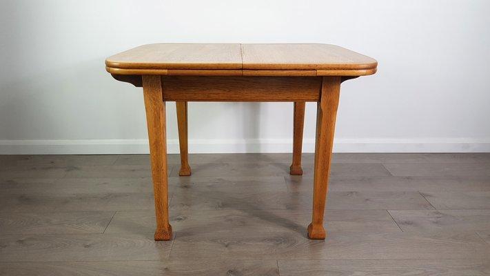 Art Nouveau Oak Extending Dining Table, 1920s 1