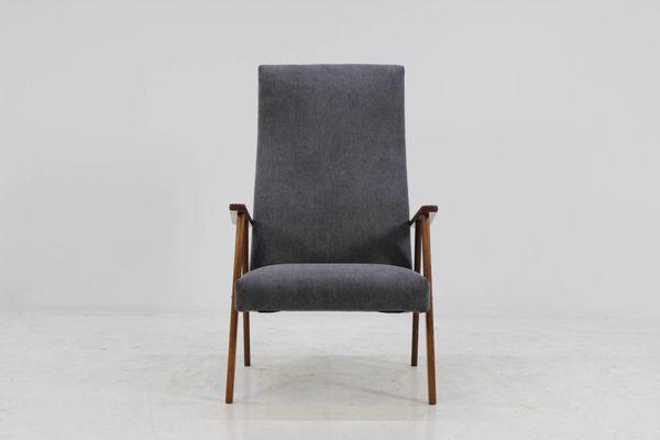 Merveilleux Mid Century Danish Teak High Back Armchair 1