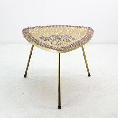 Mosaik Tisch Mit Rahmen Aus Messing 1950er Bei Pamono Kaufen