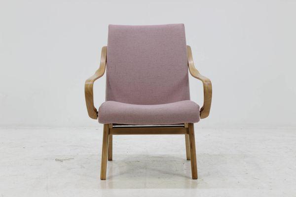 Czechoslovakian Beech Bentwood Lounge Chair, 1960s 1