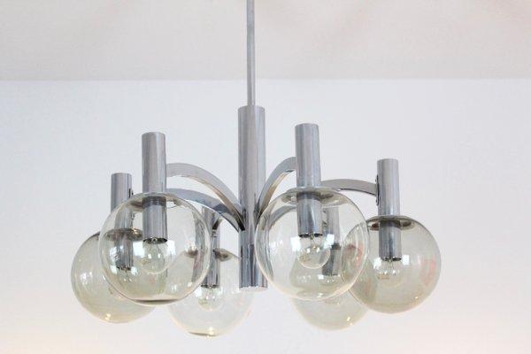 Kronleuchter Vintage Silber ~ Vintage kronleuchter aus chrom glas von kaiser leuchten bei