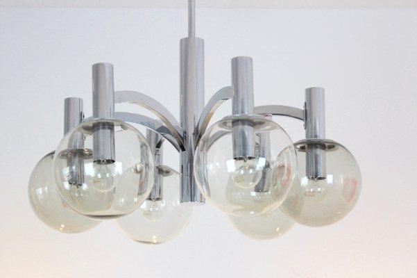 Kronleuchter Crom ~ Vintage kronleuchter aus chrom glas von kaiser leuchten bei