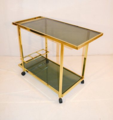 Vintage Bar Cart >> Vintage Bar Cart In Brass