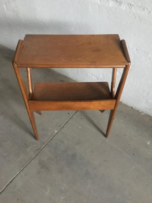 Surprising Italian Oak Console Table With Shelves 1950S Gmtry Best Dining Table And Chair Ideas Images Gmtryco