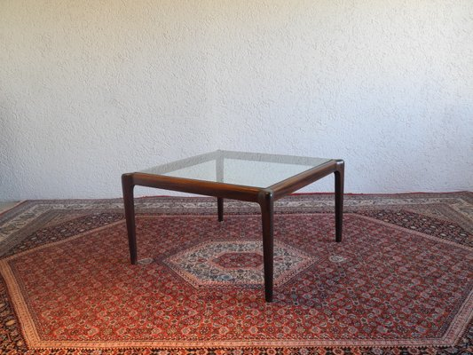 Mid Century Coffee Table In Mahogany With Gl Top