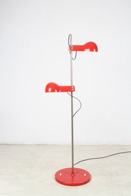 Vintage red chrome floor lamp for sale at pamono vintage red chrome floor lamp 2 aloadofball Choice Image