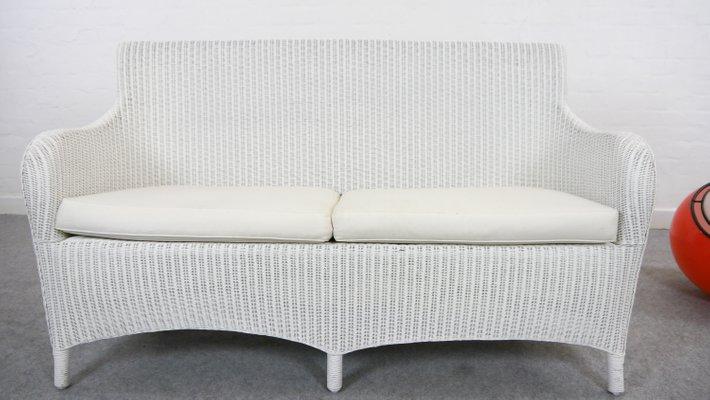 Weißes Vintage Lloyd Loom Rattan Sofa Von Welle Bei Pamono Kaufen