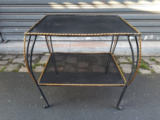 Wrought Iron Side Table 1950s 1