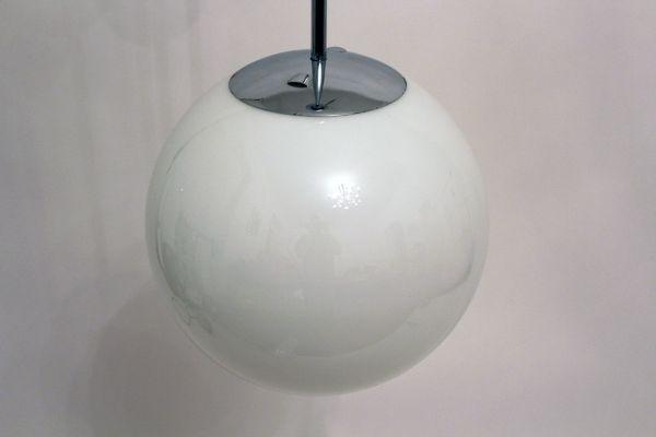 Bauhaus Style Opal Glass Ball Pendant 1949 2