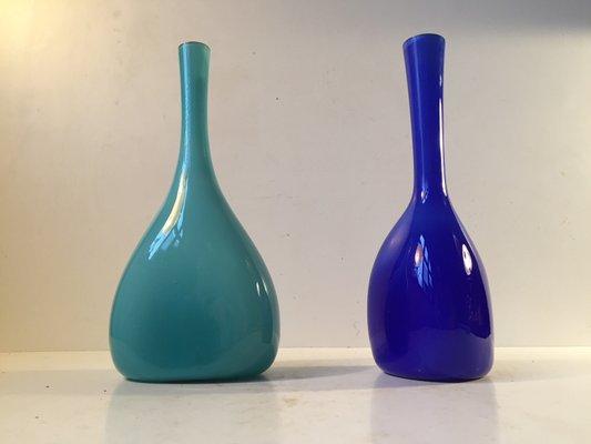 Cased Glass Vases By Gunnar Ander For Elme 1960s Set Of 2 For Sale
