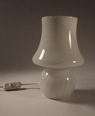 Striped Murano Glass Mushroom Table Lamp, 1960s 1