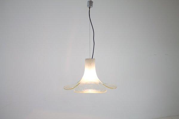 Lampade In Vetro A Sospensione : Lampada a sospensione in vetro trasparente di carlo nason per