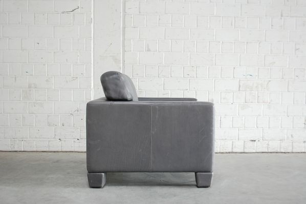 Swiss DS 17 Grey Leather Armchair From De Sede, 1980s 11
