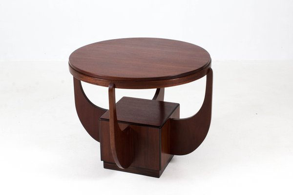 Attrayant Dutch Art Deco Mahogany Coffee Table From Paul Bromberg, 1920s