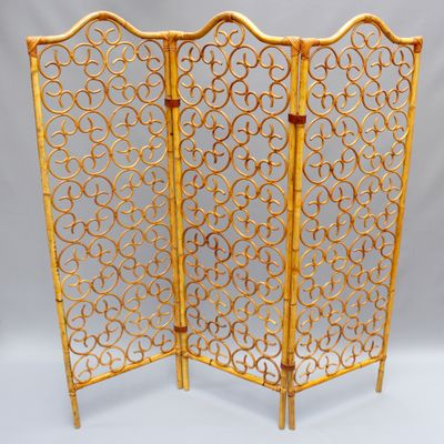 French Rattan Room Divider 1960s for sale at Pamono