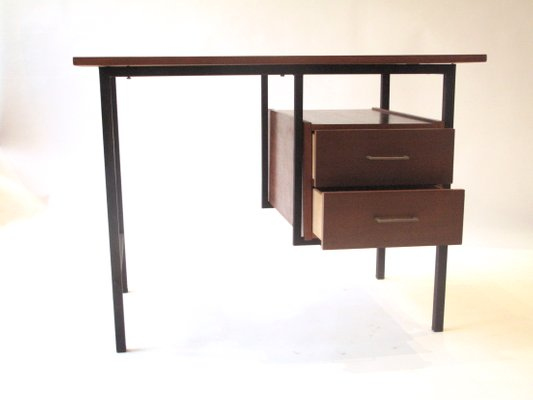 Schreibtisch Aus Holz Metall 1960er