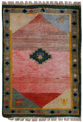 Vintage Persian Handmade Gabbeh Rug 1960s 1