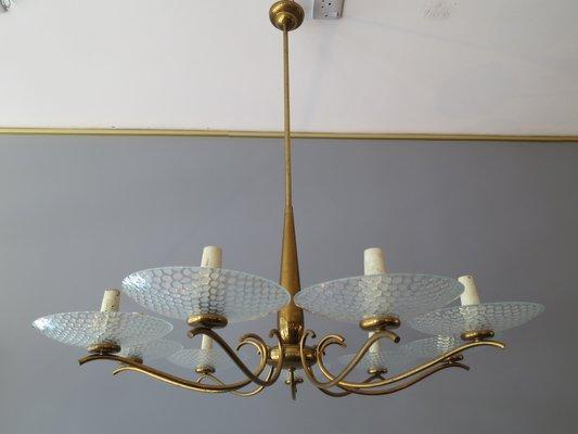 Kronleuchter Quadratisch ~ Italienischer leuchten kronleuchter aus chrom glas er bei