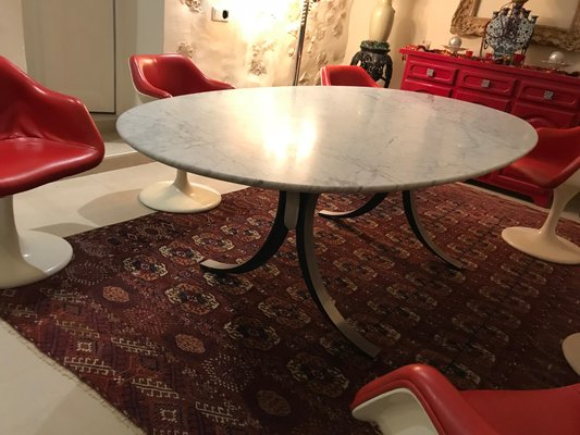 Table De Salle à Manger En Marbre De Carrère Par Osvaldo Borsani Pour  Tecno, 1960s
