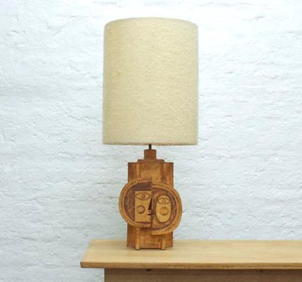 Ceramic Table Lamp By Roger Capron U0026 Jean Derval, 1969