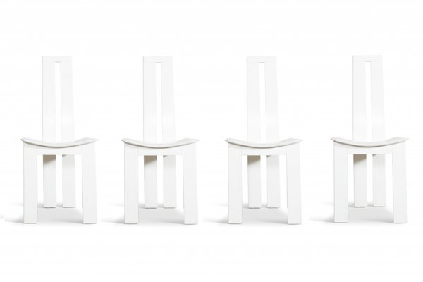 Awesome White Leather Dining Chairs By Pietro Costantini 1970S Set Of 4 Ibusinesslaw Wood Chair Design Ideas Ibusinesslaworg